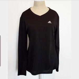 Womens Black Long Sleeve Adidas Shirt